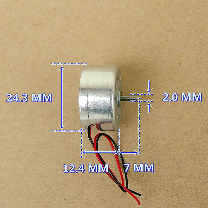 Micro Mini 300 Zonne-energie Motor RF-300CA DC 3V ~ 6V 11000RPM Kleine 24mm Ronde Spindel motor Voor Hobby Speelgoed Model