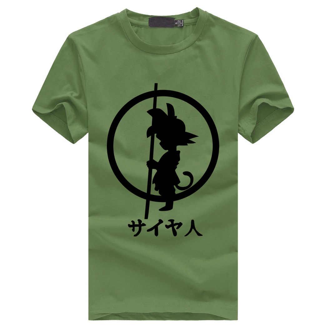Японского аниме уличная homme Футболки мужские Dragon Ball Z goku футболка с коротким рукавом брендовая одежда hipster повседневные топы тройник человек