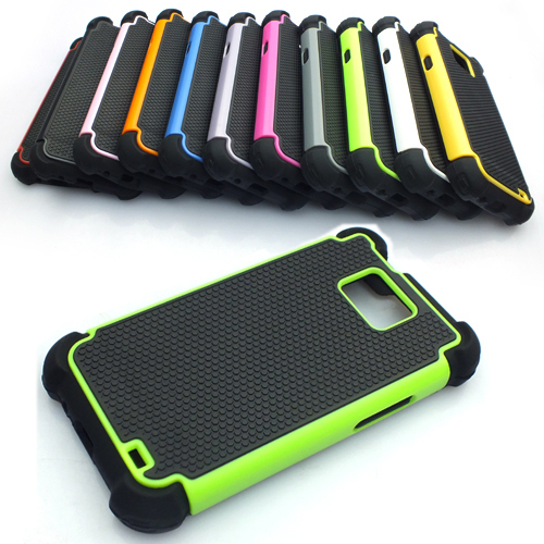 Dual Layer Rugged Armor Hybrid Hard Case Cover for Samsung Galaxy S2 II i9100