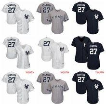 MLB Men Women Youth kids New York Yankees Giancarlo Stanton Majestic Cool  Base Replica Player Jersey 024d36a12
