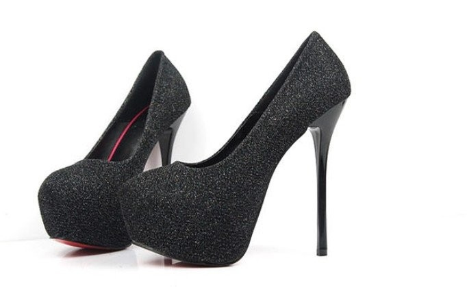Aliexpress.com : Buy Sexy Platform Pumps Red Bottom Glitter High ...