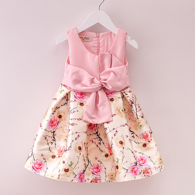 06beba0701cf 2018 New Children Formal Dress Little Girl Party Dress Spring Summer Kids  Clothes Princess Holiday Floral Girls Easter Dresses