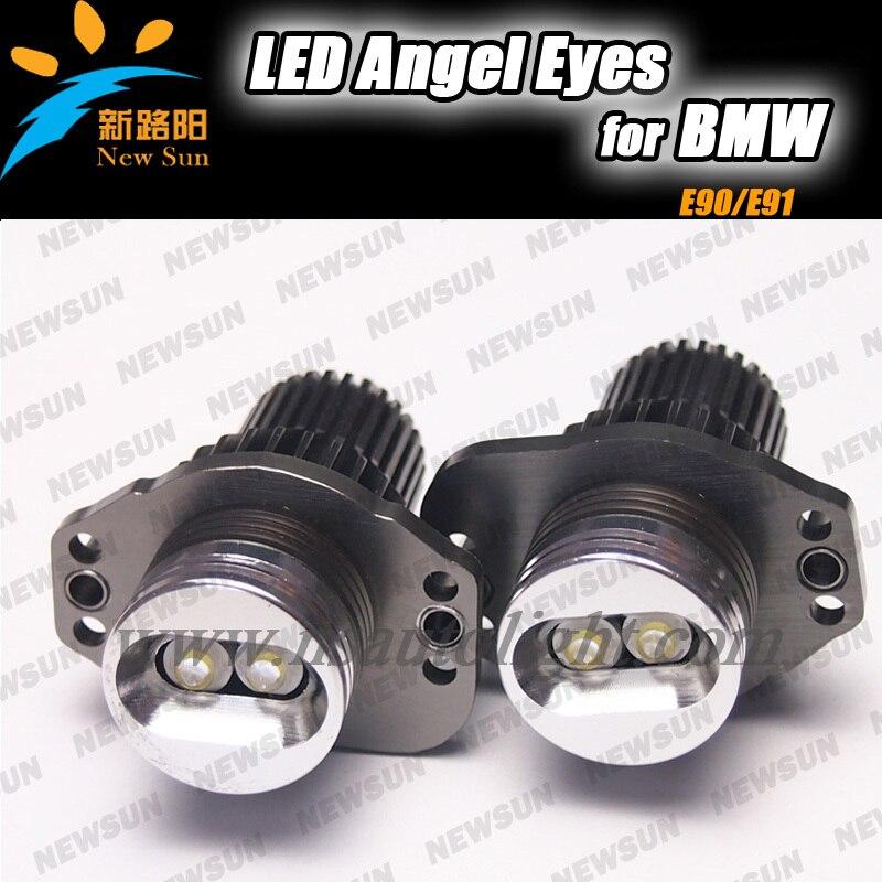 Factory supply super bright Led marker angel eyes for BMW E90 E91 2pcs 10w OEM size led auto light