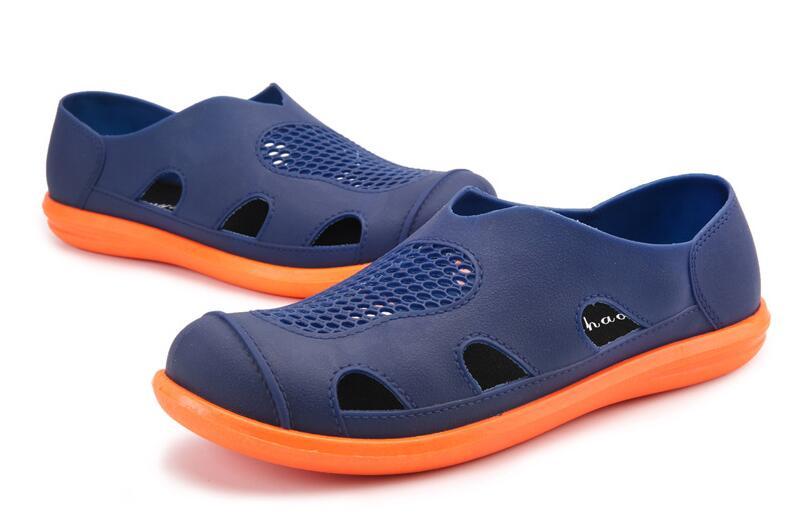 Cool D'été Qualité Casual Axoid gris Plat Noir Mode Chaussures Homme Hommes Haute bleu Dadijier Douces De Plage St273 Nid 2018 Sandales Trou vq1IW4Xw