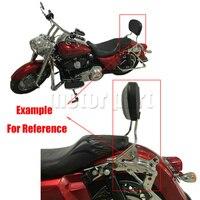 Sissy Bar Luggage Rack Detachable Upright Passenger Backrest Pad For Harley Touring Street Glide FLHX Road
