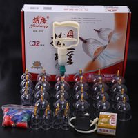 32 pcs thicker magnetic aspirating cupping cans massage Vacuum cupping set acupuncture massage suction cup with tube