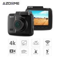 GS63H Novatek 96660 WiFi 4K 2880x2160P G sensor 2.4 Screen Car DVR Recorder Dash Camera Built in GPS Camcorder Night Vision