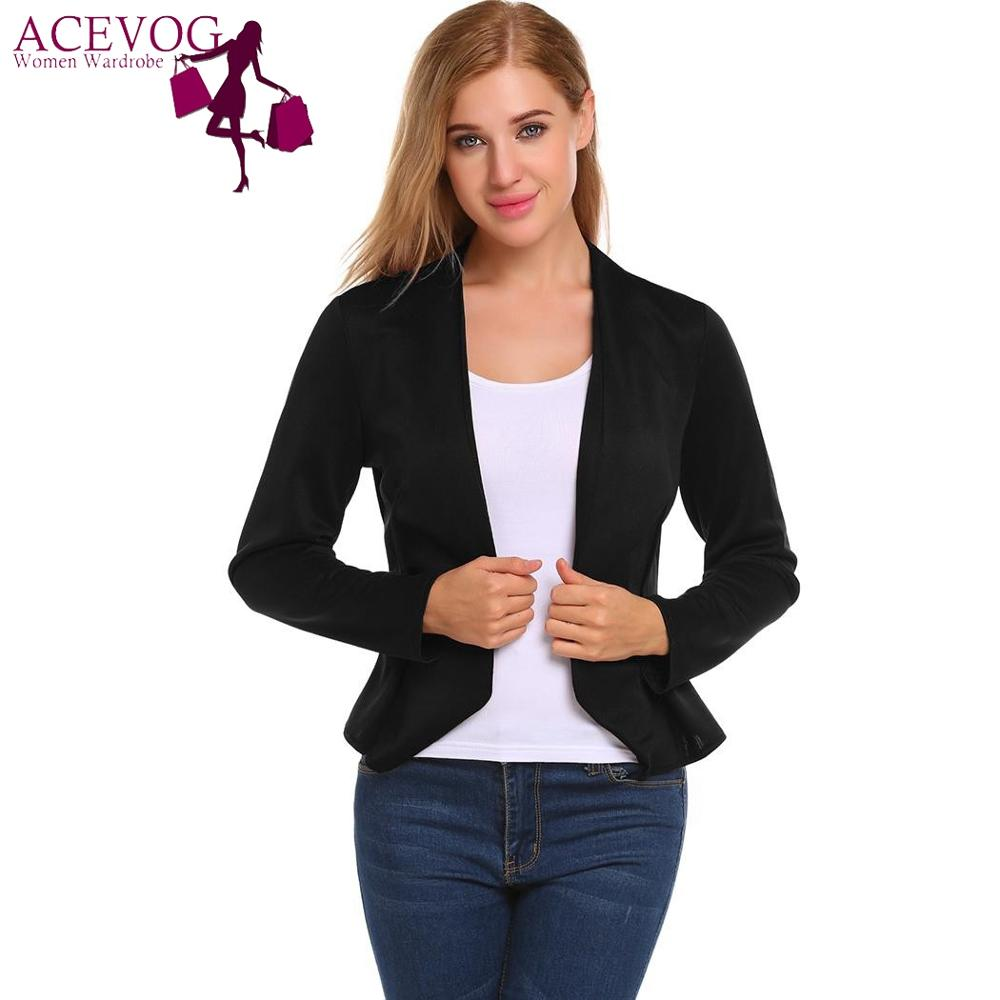 Analytical Notched Wear Female Suits Blazer Casual Slim Long Sleeve Single Button Blazers White Blue Work Formal Jackets Blazer Feminino Back To Search Resultswomen's Clothing
