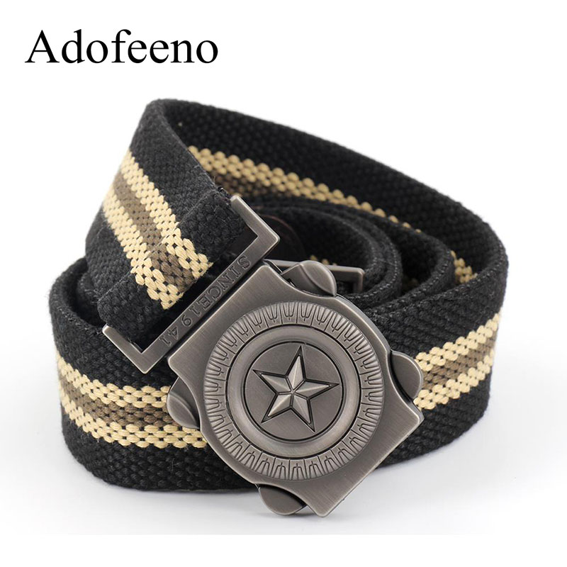 Adofeeno Tactical   Belt   for Men Canvas High Quality Strap Army Military Equipment   Belts   Cinturon Cinto Masculino Ceinture Male