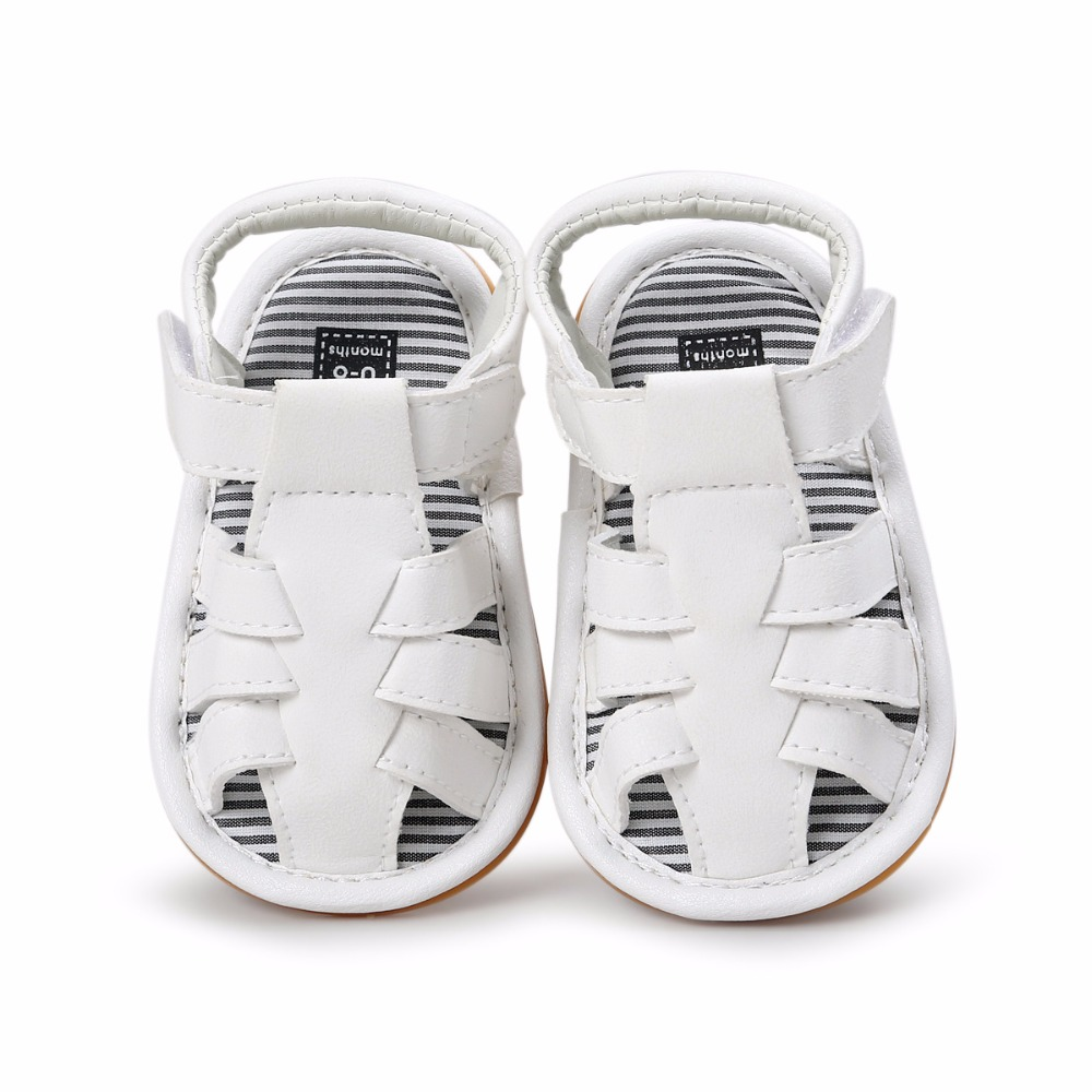 White Color Summer Autumn Newborn Baby Boy Sandals Clogs Shoes Casual Breathable Hollow For Kids Children Toddler