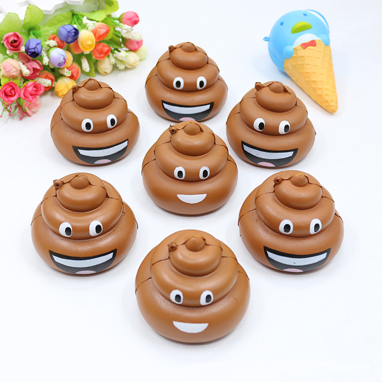 Cute Mini Colorful Shits Cartoon Simulation Poo Phone Straps Squishy Squeeze Anti-strss Toys Slow Rising Kids Fun Gag Gift