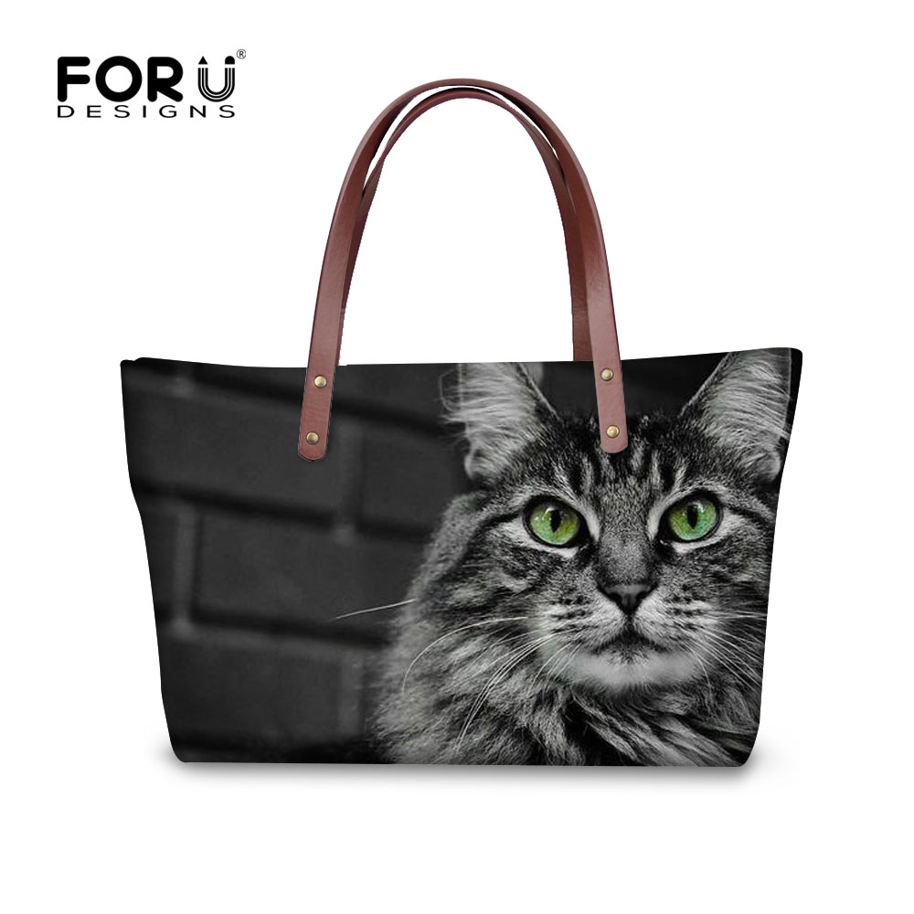 Forudesigns/милый кот Для женщин сумки повелительницы плеча Курьерские сумки Crossbody сумка для девочки Bolsas femininas TRAVEL Tote