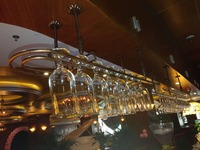 100*25CM Fashion Bar Red Wine Goblet Glass Hanger Holder Hanging Rack Shelf bar goblet holders Wine Goblet Glass Hanger Holder