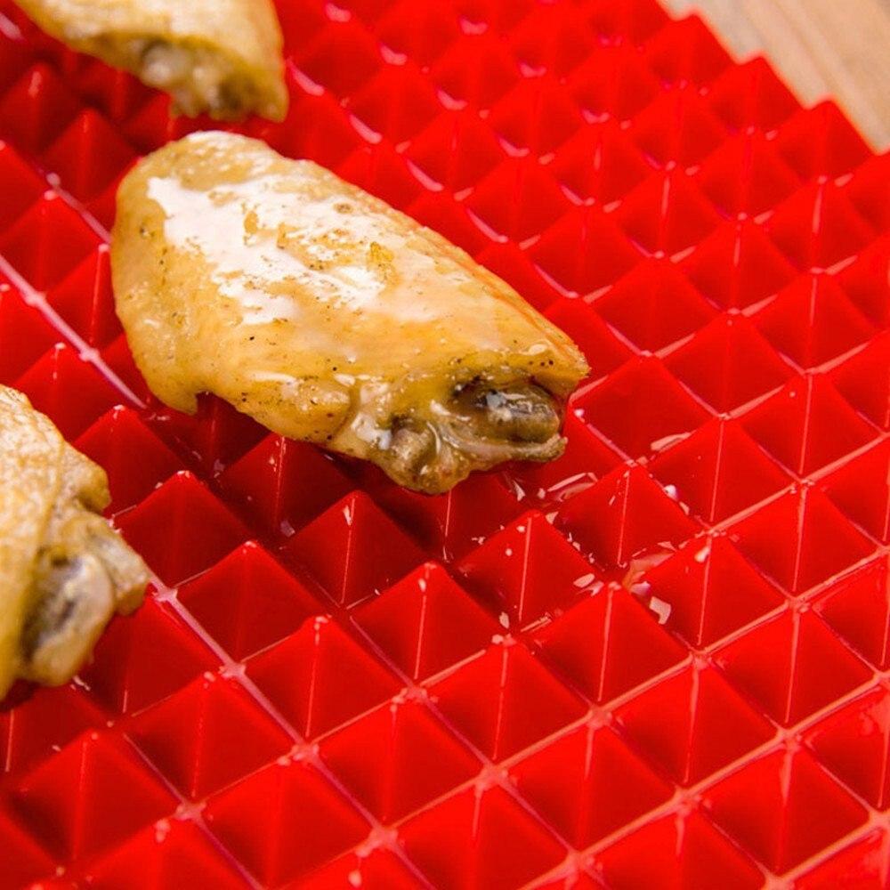 شواء مات الهرم خبز الميكروويف مات عموم نونستيك سيليكون الخبز حصيرة منصات طريقة سهلة ل فرن الخبز صينية ورقة مطبخ أداة
