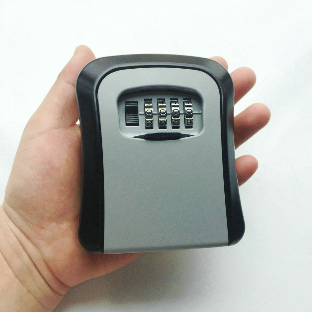 4 Digit Password Combination Key Safe Security Storage Box Lock Case Wall Mount LockStorage Box Security Safes OS5402