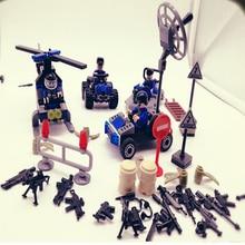 Купить с кэшбэком 2017 Doll 4pcs/sets d175 Anti Terrorist SWAT Team Military Army With Weapons Toys For Children Building Blocks Legousi Bricks