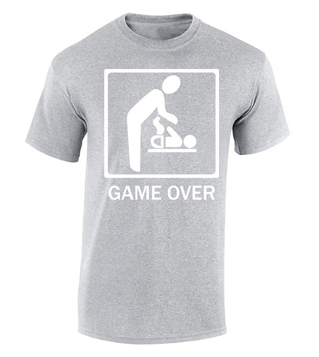 Cotton Jersey Mens Tees Game Over T shirt Cool New Dad New Mom Gift