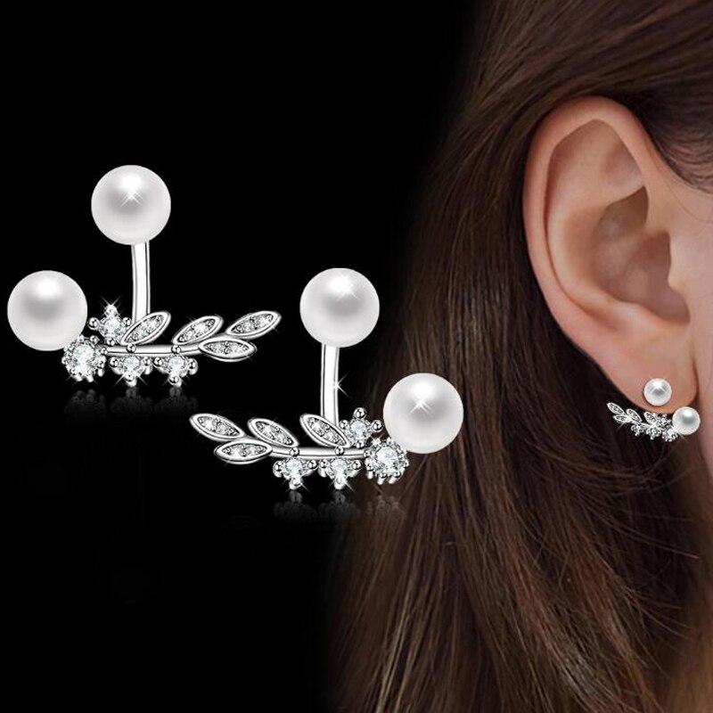 Nouveau Femme AAA Blanc Saphir longue oreille Goujon Argent 925 Rempli Tassel Boucles d/'oreilles