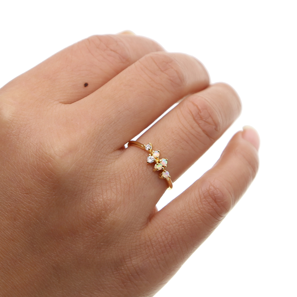 Fashion Jewelry Tiny Small Fire Opal Gem Delicate Dainty Minimal Jewelry Design Teen Girl Women Stone Elegant Stunning Ring Buy At The Price Of 7 99 In Aliexpress Com Imall Com
