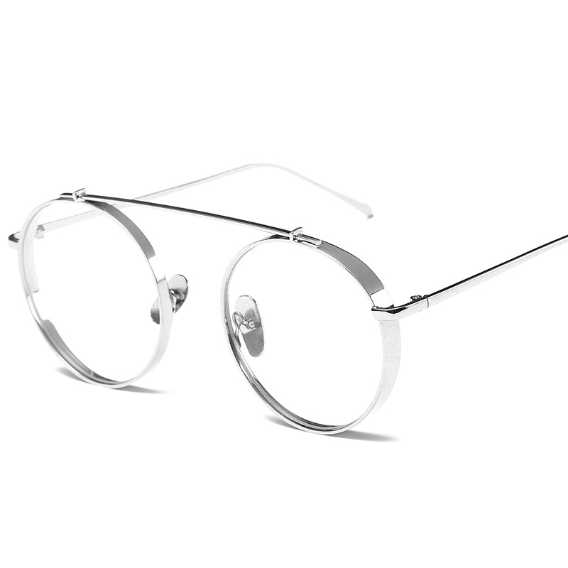 4e7a1322f45b3 Hindfield Newest Fashion Round Glasses frames for Women Metal Men Optical  frame Circle Wide side Eye glasses frames Vintage O230-in Eyewear Frames  from ...