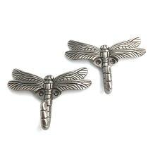 Настенный крючок для ключей в форме стрекозы вешалка пальто