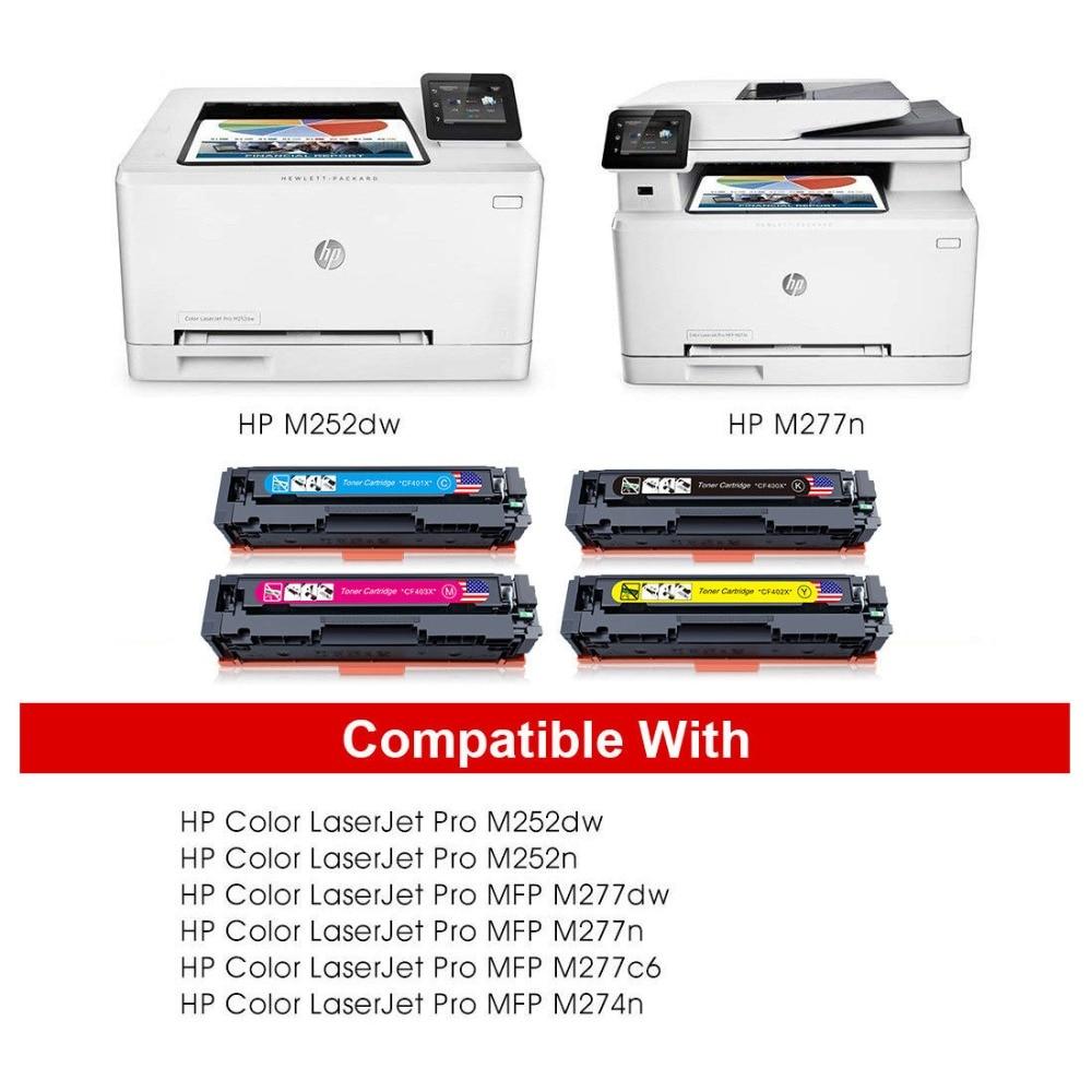 5pk for HP 201X Color Toner Set LaserJet Pro MFP M277dw M277 M252dw M252 CF400X