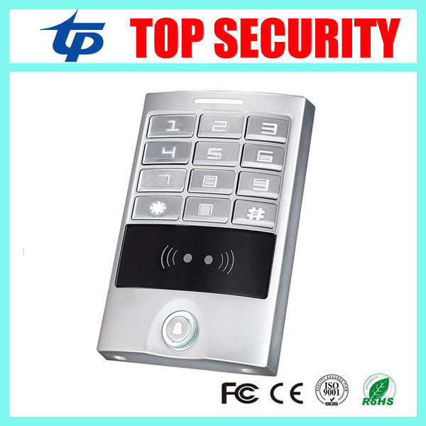 New arrival 13.56MHZ Mi-fare card reader standalone smart IC card access control system with weigand in and out IP65 waterproof metal rfid em card reader ip68 waterproof metal standalone door lock access control system with keypad 2000 card users capacity