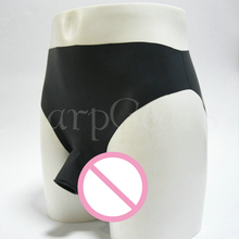 Free Shipping !!! 100% Nature Latex Underwear with Penis Sheath Cock Ring Rubber Panties / Briefs