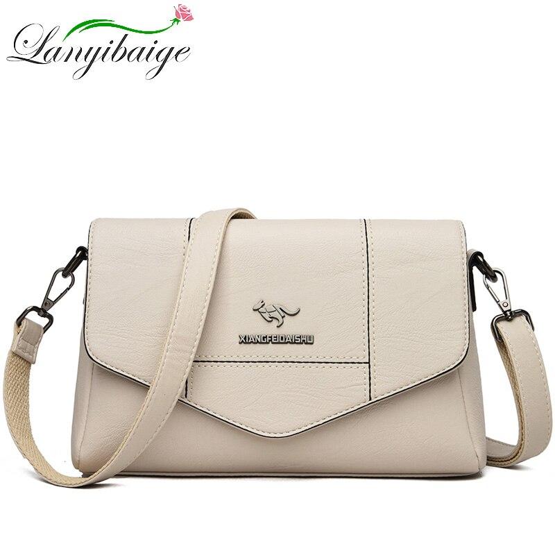 Женская сумка-мессенджер, летняя, из мягкой кожи