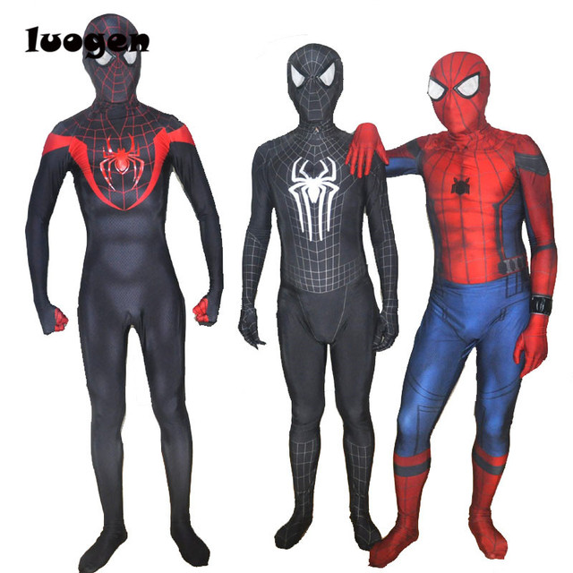 Super Hero Spiderman Printed Jumpsuits Games Spidey Cosplay Suit Spider-man Costume Menu0027s One Piece  sc 1 st  AliExpress.com : spidey costumes  - Germanpascual.Com