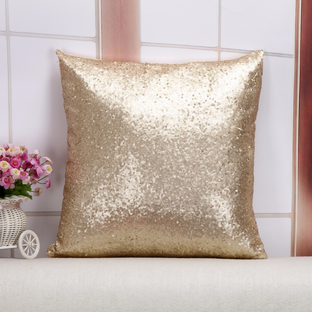 Wholesale Cushion Cover Glitter Sequin Throw Pillow Cases Cafe ...