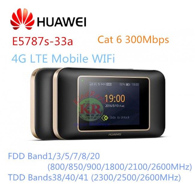 Sbloccato Huawei E5787 LTE Cat6 Mobile WiFi Hotspot 3000 mah batteria LTE Categoria 6 mobile router 4g Router Portatile e5787s-33a