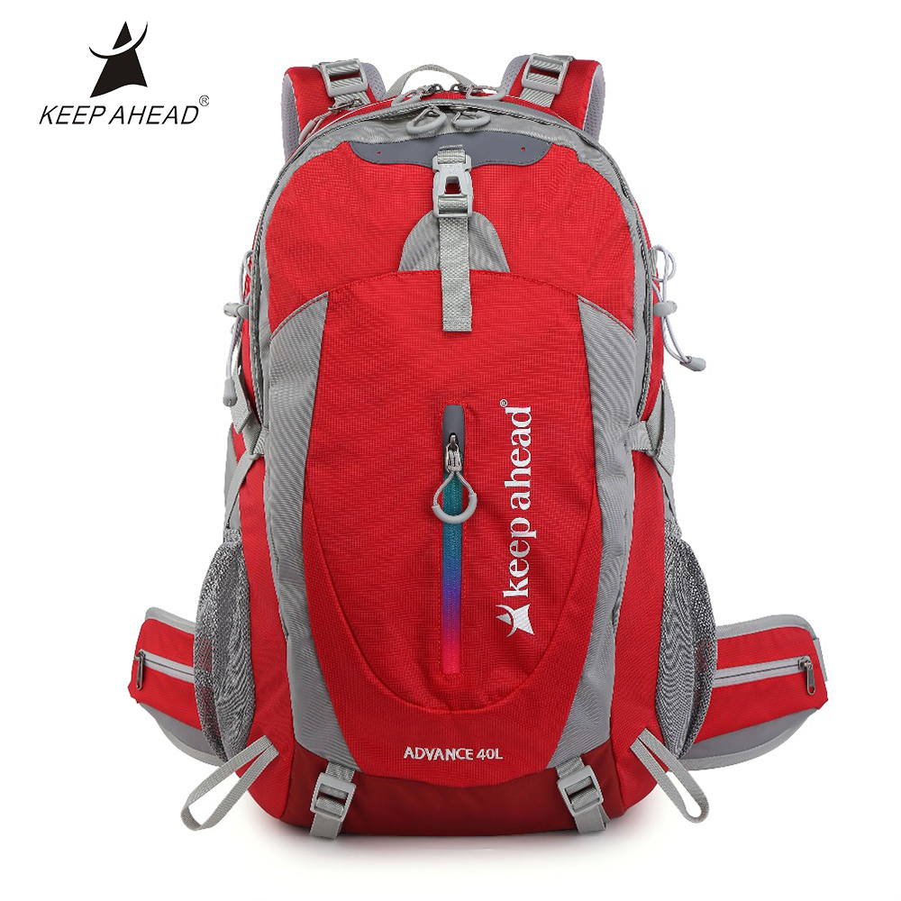 40L Outdoor Backpacks Three Layer Thick Mesh Bag For Unisex Good Ventilation High Strength Backpack Webbing