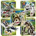 100 шт. Бела Лев Орел Горилла Крокодил Волк Легенда Зверь DIY Нападающий Строительные Блоки Модель Игрушки Совместимость с Lego