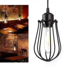 цены Vintage Loft Ceiling Light Frame Pendant Lamp Holder Industrial Ceiling Lamp Chandelier Lighting Fixture Hanging