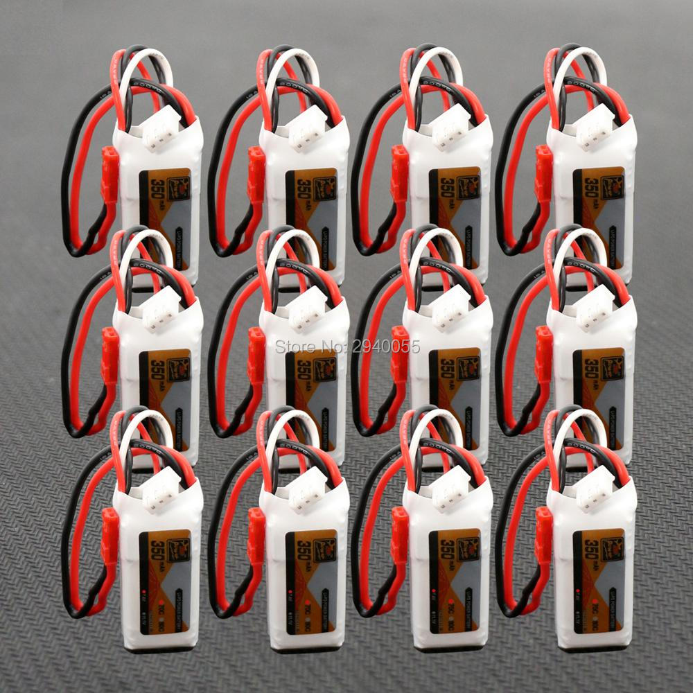 12pcs 2S 7.4V 350mAh 70C Lipo Battery For Mini RC Helicopter Quadcopter Airplane Model DLG1000 F300BL DTS130 1s 2s 3s 4s 5s 6s 7s 8s lipo battery balance connector for rc model battery esc