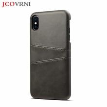 JCOVRNI модный бизнес на две карты чехол для iPhone XS XSMAX 7 7 plus 8 8 plus PC кожаный телефон все включено задняя крышка