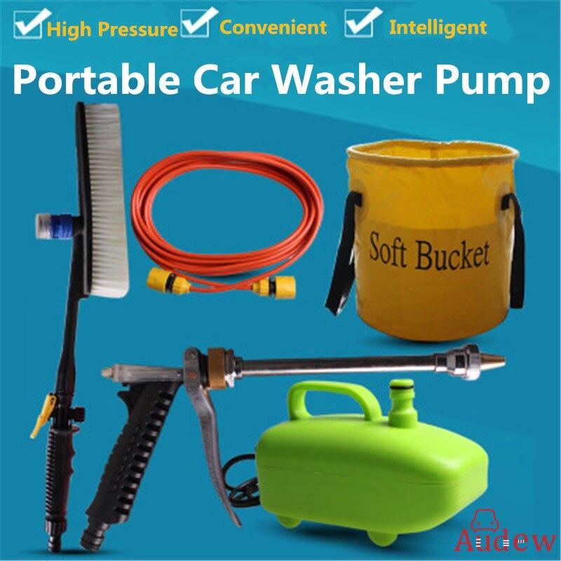 60 W 12 V 5 pièces voiture laveuse Submersible Portable haute pression voiture pompe dispositif nouveau ménage électrique pratique voiture laveuse