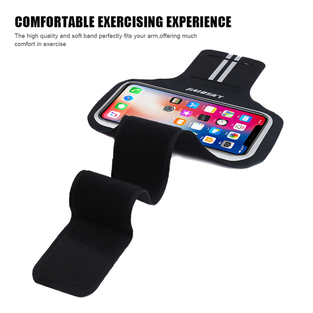 Haissky 5.2 inch Running Sports Armbands For iPhone X XS 8 7 6 6S GYM Fitness Phone Holder For Samsung S5 S6 S7 Huawei P9 P10 5