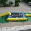 Conjunto completo wate inflável trampolim bouncer jogo flutuante para crianças