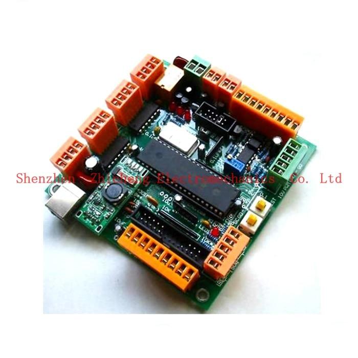 Stepper Motor 4 Axis USB CNC Controller Interface Board CNC USB MK1 USB CNC 2.1 Substitute MACH3 CNC Controller Interface Board Числовое программное управление