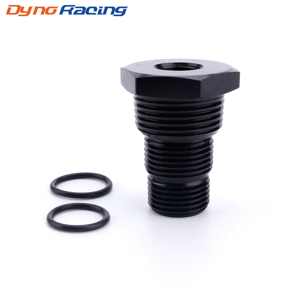 Universal Aluminum Black Automotive Threaded Oil Filter Adapter 1/2-28 To 3/4-16 13/16-16 3/4NPT Car Nut YC101283