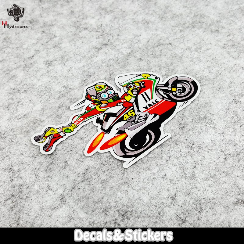 NO.LN127 NO.46 Cartoon Rossi 3M Material Reflective Stickers MOTO GP Car Sticker Decals Racing Stickers Motorcycle