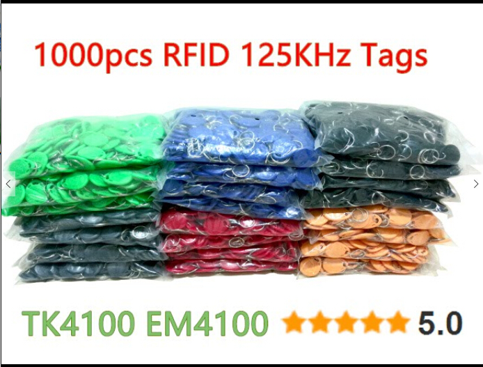 8 Color 100pcs RFID Tag TK4100 EM4100 125KHz Proximity Keyfobs Tags RFID Card for Access Control Time Attendance rfid contactless card proximity id card rfid iso pvc card time attendance for access control 125khz with tk4100 em4100 chip