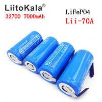 2019 LiitoKala Lii-70A 32700 lifepo4 3,2 v 7000 mah 33A 55A de soldadura de para destornillador de la batería bicicleta eléctrica alimentado + níquel hojas