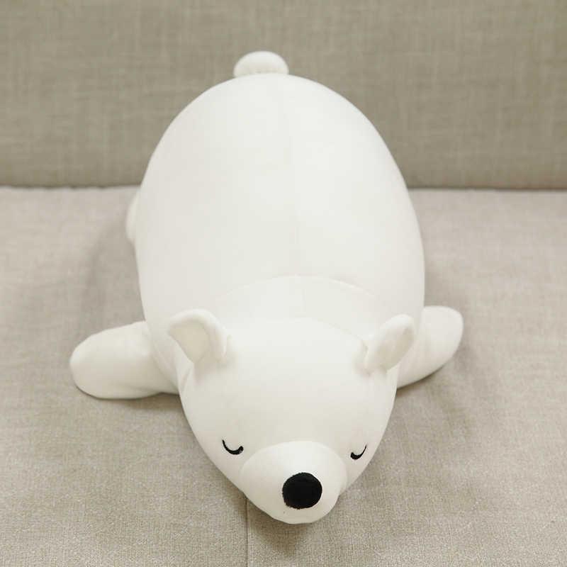 30cm sevimli beyaz kutup ayısı peluş köpük parçacık yumuşak dolması oyuncak bebekler çocuklar için noel hediyeleri ile bambu kömür
