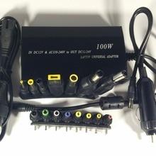 Универсальное автомобильное зарядное устройство 100 Вт для ноутбука/мобильного телефона, универсальное зарядное устройство и 15 разъемов