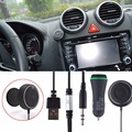 NFC Car Kit 3.5mm Bluetooth 3.0 Receptor De Áudio Aux Speakerphone Hands-free Stereo Música com 3.1A Dual USB Carregador de carro