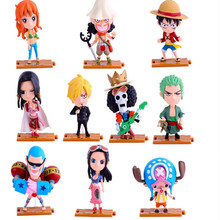 10 PCS/LOT ONE PIECE Anime Action & Toy Figures PVC Figure Toys for Children Adult Kids Gift