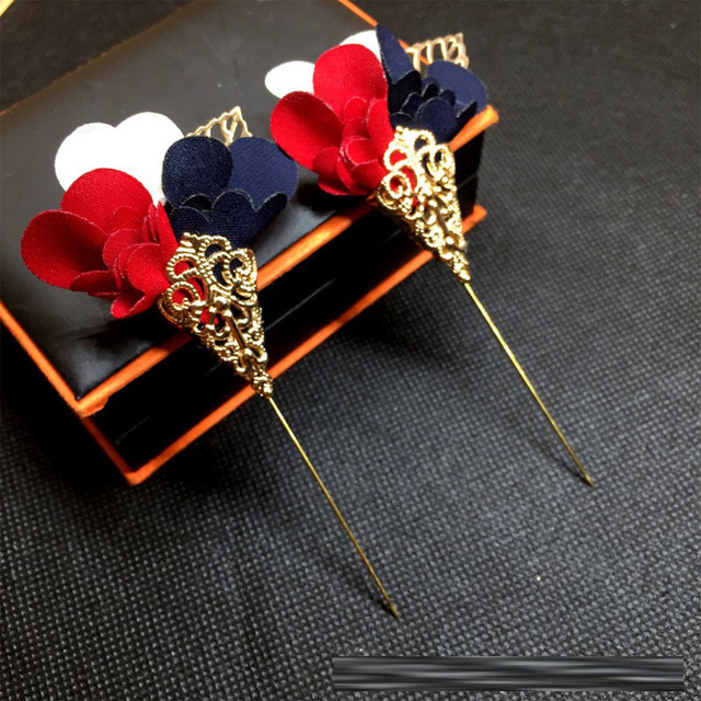 3e0eeef5332 2018 Fashion Jewelry Gold Metal Poppy Brooch Flower Lapel Pin Men Suit  Brooch Hijab Pins Broches Vintage Long Brooches For Women